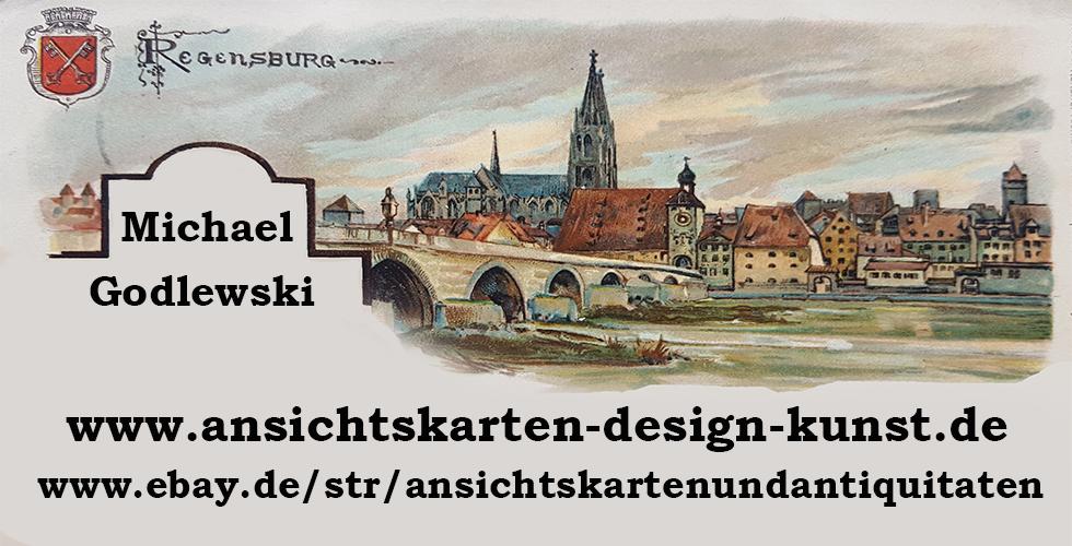 Ansichtskarten-Design-Kunst-Logo